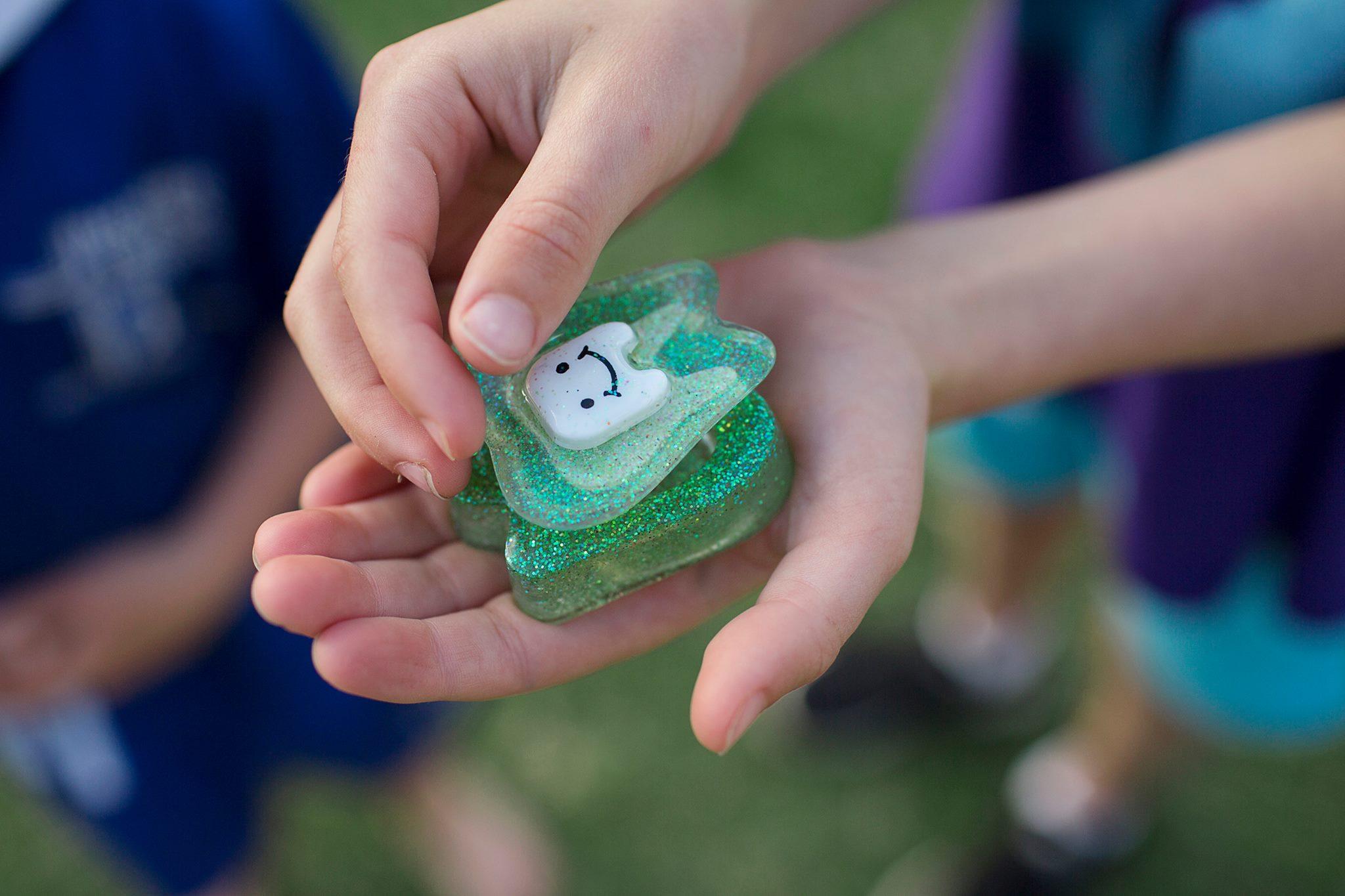 Green Glitter Tooth Fairy Box