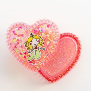 Mermaid Heart Shaped Trinket, Jewellery Box Inside
