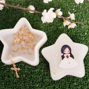 White Glitter Star Trinket Box