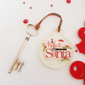I Believe In Santa Metal Key