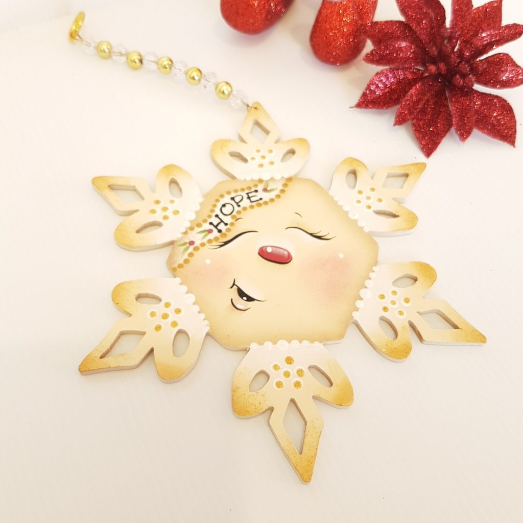 Hope Christmas Wooden Ornament