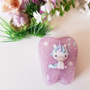 Sparkly Pink Tooth Fairy Box for Boys and girls, perfect for the Tooth Fairy.